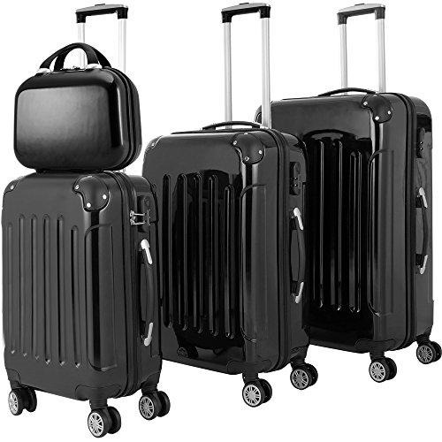 4tlg Reisekoffer Hartenschalenkoffer Koffer Set Premium Beauty Trolley ABS-Kunststoff PC beschichtet 4fach Kantenschutz Alu Teleskopgriff gummierte...