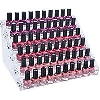 Présentoir de 6 étagères en acrylique pour 66flacons de vernis à ongles Mobengo, rangement pour maquillage ou bijoux