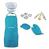 F Fityle Kinder Kochschürze Set für Jungen und Mädchen Rollenspiel - Blau