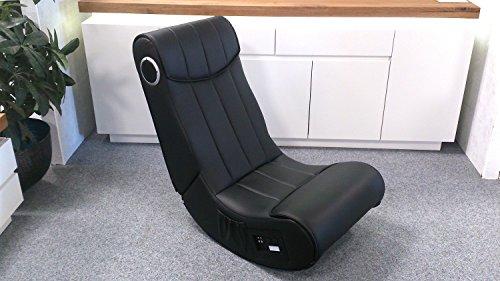 Lifestyle For Home Soundsessel Gaming Chair Soundz Spielsessel schwarz mit Audiosystem