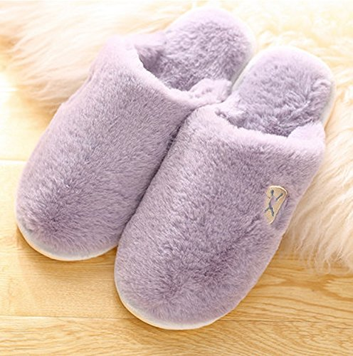 Pantoufles en coton pour l'hiver ( couleur : # 1 , taille : 40-41 ) N ° 4