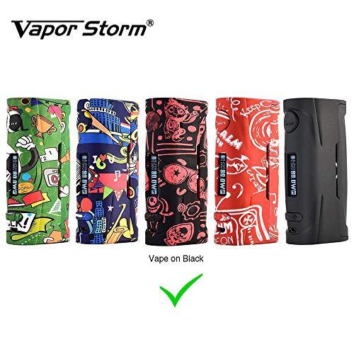 Vapor Storm Puma Baby 80W TC Box MOD OLED Display Cigarrillo electrónico exclusivo con cuerpo de graffiti Sin líquido E Sin nicotina (Negro)