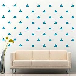 JCM Custom Triangle Removable Wall Vinyl Decal Sticker Wall Décor, Light Blue
