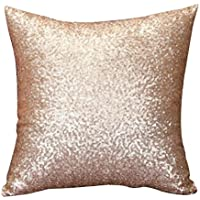 Cushion Cover, HUHU833 40cm*40cm Solid Color Glitter Sequins Throw Pillow Case Cafe Home Decor