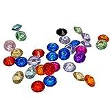 KAKOO 1000 Stück Deko Diamanten Dekosteine 10mm Funkelnde Kristall Glitzersteine Streudeko Hochzeit Tisch Dekoration Vasen Füller Blumen DIY Basteln (bunt) - 5
