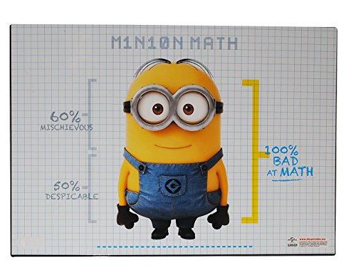 Schreibtischunterlage - Minions -  Ich einfach unverbesserlich  - 51 cm * 36 cm - Kunststoff PVC - Unterlage / Knetunterlage / Schreibunterlage / Tischunter.. (Brille Mit Minion)