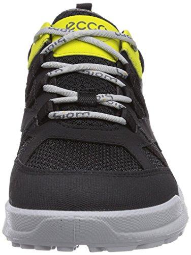 Ecco Biomultra Kids, Chaussures de course garçon Noir - Schwarz (Black/Black Sulphur S/T/58356)