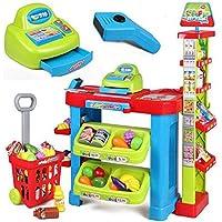 Preisvergleich für Scheckstand Set Kinder Kunststoff Pretend Tragbare Sitz Pädagogisches Spielzeug Rolle Spielen Spiel Bundle Mit Zubehör CFZHANG