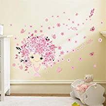 Pegatina hada flores y mariposas para dormitorios bebes infantiles tiendas ropa peluqueria infantail cuartos de juegos de OPEN BUY