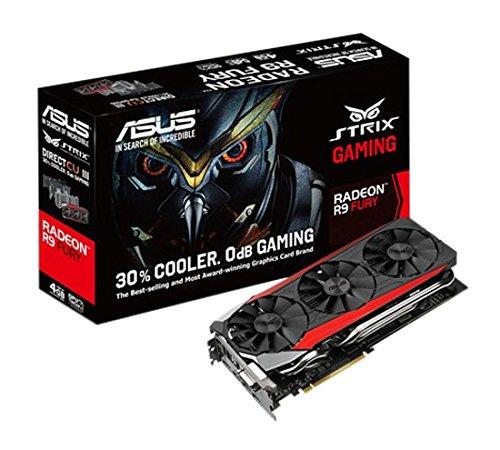 ASUS-STRIX R9FURY-DC3--GAMING 4G-Scheda Grafica AMD Radeon R9 4 Go FURY, Standard PCI Express 3,0, 1000 MHz, HDMI)