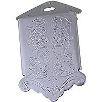 yibuy plateado aleación de zinc diseño de flores y patrón Cordal para mandolina de piezas de repuesto