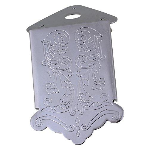 yibuy 62x 41mm Mandoline Saitenhalter Blume Dekoration Silber