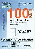 pripa - Amazon FBA Versand Etiketten 70,0 x 37,0,- 24 Stueck auf A4-100 Blatt DIN A4 selbstklebende Etiketten - DHL Post