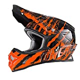 O'Neal 3Series MX Helm Mercury Schwarz Orange Motocross Enduro Quad Offroad Cross, 0623-44, Größe M (57/58 cm)