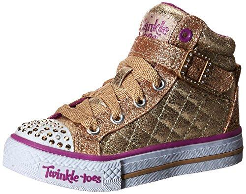 Skechers Mädchen Shuffles-Sweetheart Sole Hohe Sneakers, Gold (Gld), 27.5 EU (Toe-high-top-schuh)