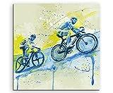 Radsport V 60x60cm SPORTBILDER Paul Sinus Art Splash Art Wandbild Aquarell Art