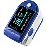 niceEshop(TM) Finger Pulse Oximeter Finger Oxygen Meter with Pulse Rate Monitor LED Display, Blue