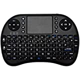 JUSTOP 2.4Ghz Mini Wireless Keyboard With Touchpad and Multimedia Keys for HTPC PS3 XBOX360 Android TV Box Smart Phone iPhone 4s 5 iPad Mac Linux Windows OS