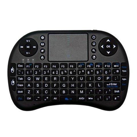 Hp Wireless Mini-maus (Coco Digital 2.4 G 92 - Schlüssel Mini Wireless Tastatur mit Maus Funktion, Weiß schwarz)
