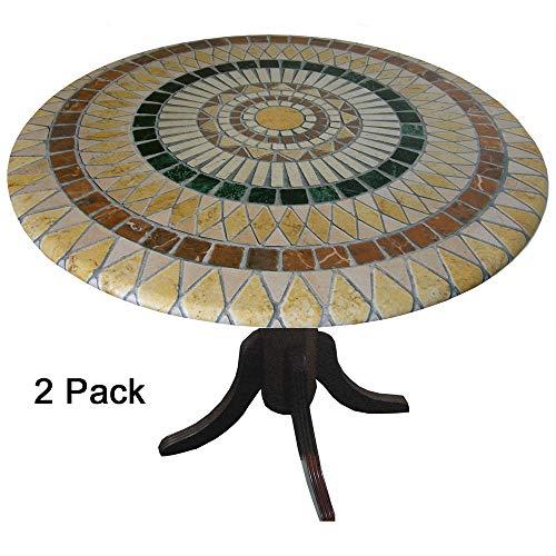 Stein-sockel Top (TableMagic Tischdecken aus Vinyl, 2 Stück, 2 Stück)