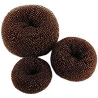 Aikesi 3Pcs Accesorios para el cabello Donut Headbands para niñas Lovely Elástico Hair Waves,marrón