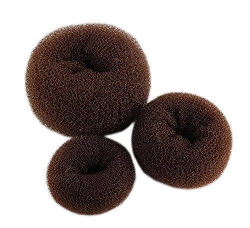 Demarkt Knotenring groß Dutt Duttkissen Haarknoten Knotenrolle Haardutt Donut Knotenkissen Haarschmuck Hair Donut Shaper Hair Bun Maker 3 Stück (Braun)