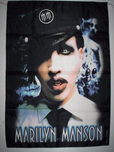 Marilyn Manson 96x 140cm panno poster tessuto Bandiera Banner Poster