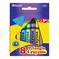BAZIC 8 Color Premium Quality Super Jumbo Triangle Crayon by Bazic
