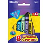 BAZIC 8 Color Premium Quality Super Jumbo Triangle Crayon by Bazic