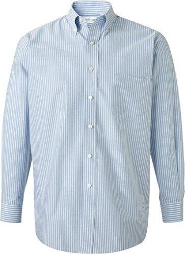 Van Heusen–Maglietta a manica lunga Oxford camicia Blue/ White Stripe