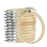 125in Bambus Stickrahmen verstellbar Bambus Quilting Kreuzstich Stickerei Hoop Ring Kreis Set für Art Craft Praktische Nähen