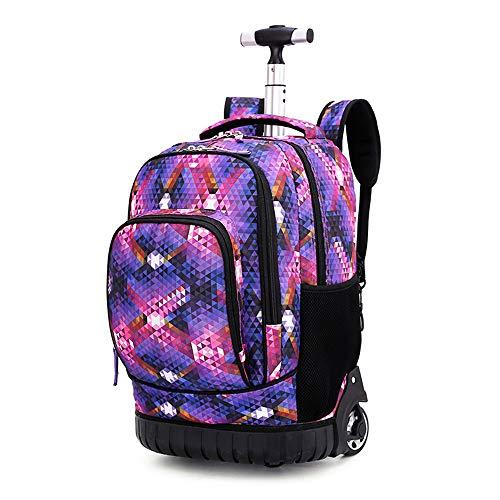 BYEON 18 Zoll Leichter Rollrucksack auf Rädern/Schultasche/Laptop/Reisegepäck für Studenten & Kinder, 31L