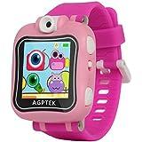 AGPtek W6 Reloj inteligente para niños con Rotación cámara, juegos, Temporizador, despertador, Color rosa