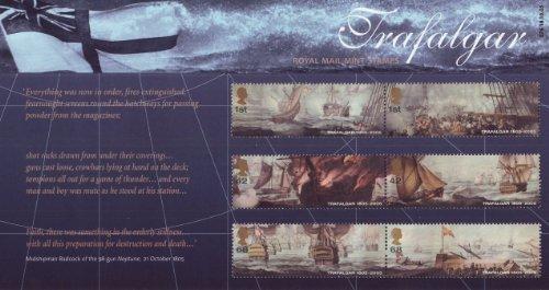 2005 der Trafalger Royal Mail Briefmarken -