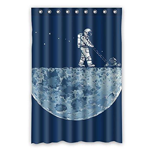 """Il grande dell' universo. Astronauti camminare sulla superficie della luna esplorare il mistero della luna. Sfondo è il colore di denim design poliestere tessuti impermeabile bagno doccia tenda 121,9x 182,9cm (120cm x 183cm), Poliestere, A, 48"""" x 72"""""""