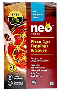 Neo Foods Pizza Topping and Sauce with Blue Jalapeno, 250 Grams - Pack of 24