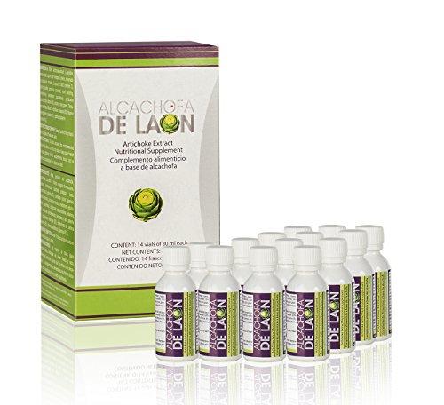 Alcachofa de Laon - Complemento alimenticio - Extracto de Alcachofa con edulcorante - 14 frascos de 30 ml