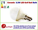 3.3W LED-Lampe, Keramik, E14, Epistar TRUE GolfBall-Form, E14 Small Edison Sockel (SES), Warmweiß 3000 K, spezielle Angebote im Shop erhältlich