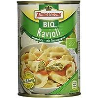 Fleischwerke Zimmermann Bio Ravioli mit vegetarischer Käse-Spinat-Füllung in Tomatensoße, 6er Pack (6 x 400 g)