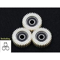 chuancheng 3 Piezas 36 Dientes E-Bike Rueda Hub Motor Planetary Gears W/Rodamiento para Bafang Motor