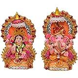 Laxmi Ganesha Statue, Lakshmi Ganesha Idol Laxmi Ganesh Murti, Lakshmi Ganesha Showpiece, Diwali Gift, L X 28 H X 21 W X 8 (cm) By New Family Collection