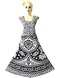 Kurti Studio Women's Premium Cotton Long Maxi Dress - Free Size Upto 44Inch