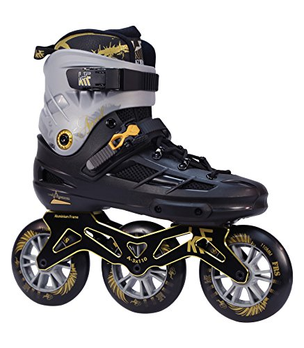 KRF The New Urban Concept Angel 3X110 Patines Enlinea de Freeskate, Infantil, Negro, 40