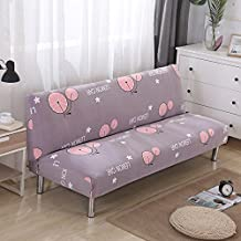 HMWPB Funda de sofá, Sofá fundas, Protector del sofá,Poliéster spandex floral impresa para sofá cama con apoyabrazos sofá-Q 63-75in