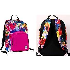 aec403ae40 ZAINO INVICTA – OLLIE PACK – Water Lily Rosa Blue Giallo – tasca porta pc  padded – scuola e tempo libero americano 25 LT