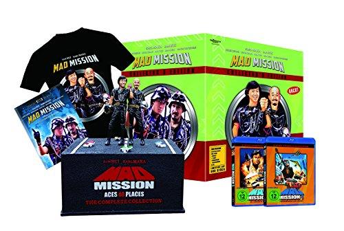 Mad Mission Collectors Edition - HD-Remastered (Mad Mission 1 + 5 - Figur mit Sockel inkl. Platzhalter für Teil 2-4, T-Shirt Größe L, 36-seitiges Booklet) limitiert auf 500 Stück!!! [Blu-ray]