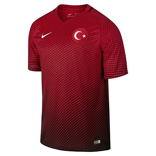 Nike Tur YTH SS HM Stadium JSY – Trikot Offiziellen M Schwarz Rot   Weiß 3a9482c1d6f