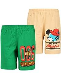 dongli Boys Fabulous Printed Shorts (Pack of 2)