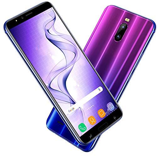 """DUODUOGO J6 Plus, Móviles libres baratos 4g (Pantalla 6.0"""" 18:9 HD Dual Sim 4800mAh 2GB RAM + 16GB ROM Cámara 8MP Face Unlock Smartphone Android 7.0 Móviles y Smartphones Libres (Gradiente Azul)"""