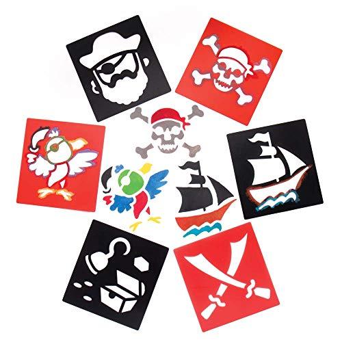"""Baker Ross Schablonen """"Piraten"""" für Kinder – für Bastelarbeiten und Dekorationen (6 ()"""
